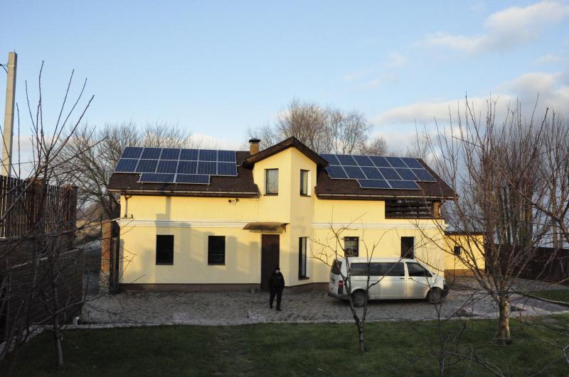 Солнечная установка для Зеленого тарифа 7 кВт, Вышгородский р-н, (2 очередь)