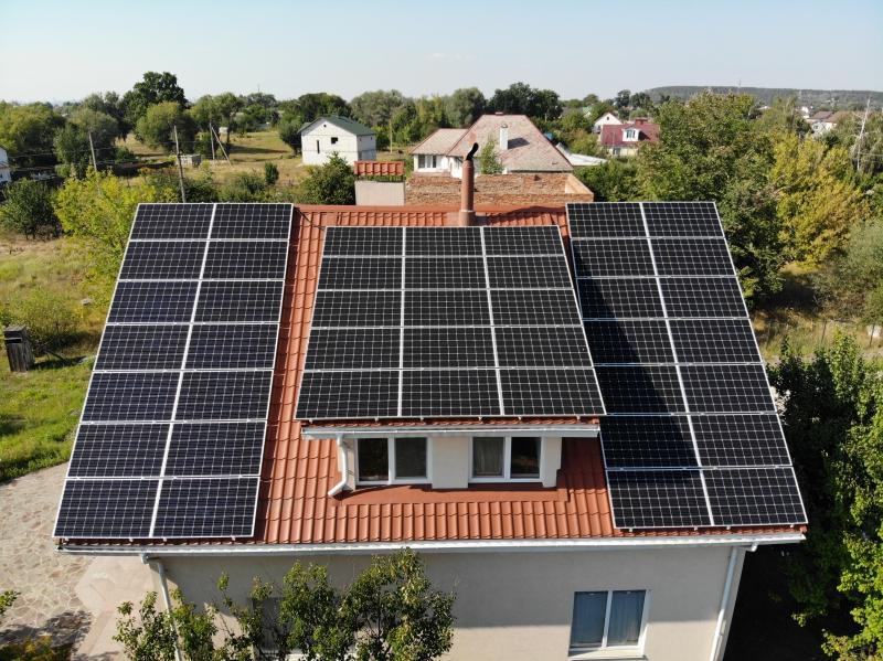 Солнечная электростанция мощностью 30 кВт под зеленый тариф в с. Гнедин, Киевская область
