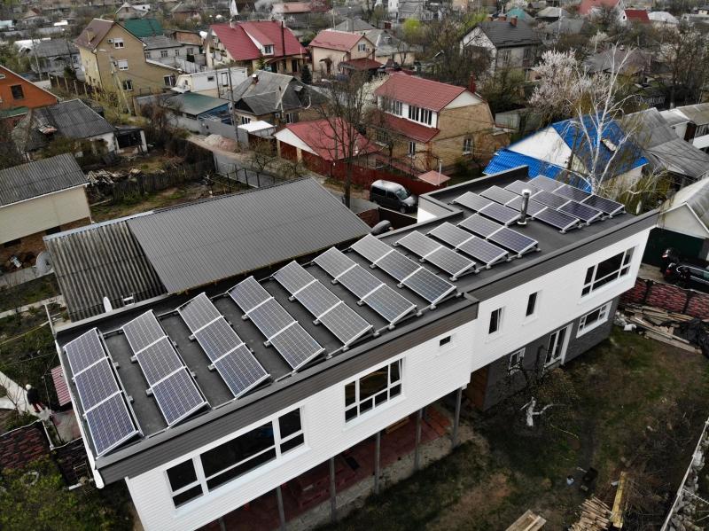 Солнечная электростанция 15 кВт под Зеленый тариф на балластной конструкции в г. Бровары
