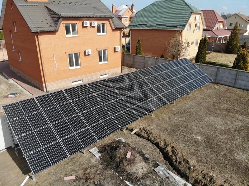 Сонячна електростанція потужністю 15 кВт з панелями Q.Cells Half-Cut