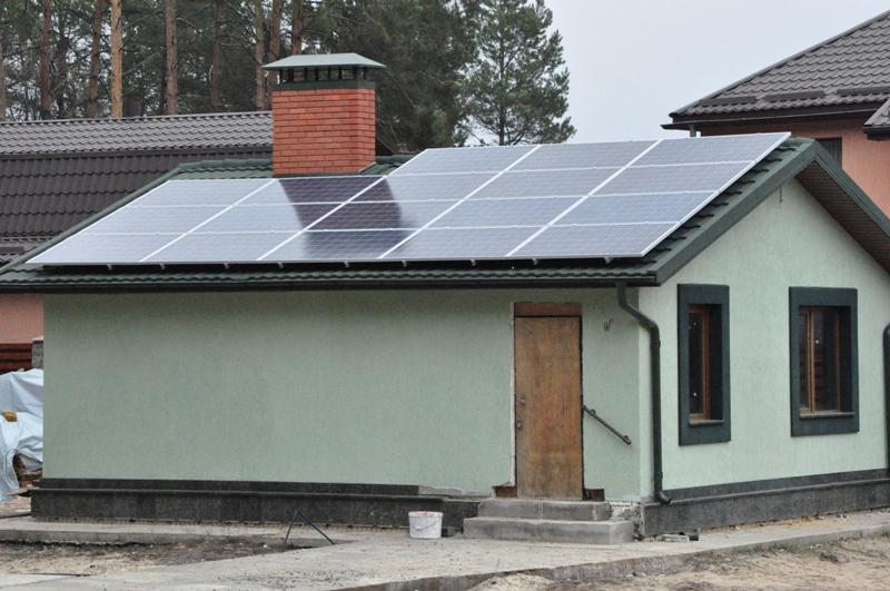 Сетевая солнечная установка 15 кВт в с. Нещеров, Киевская область