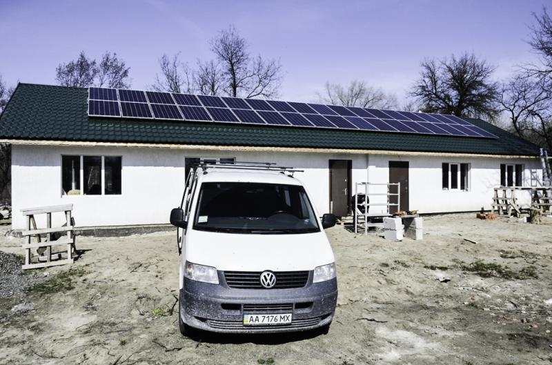 Автономная система питания с солнечными батареями 10 кВт в г. Черкассы