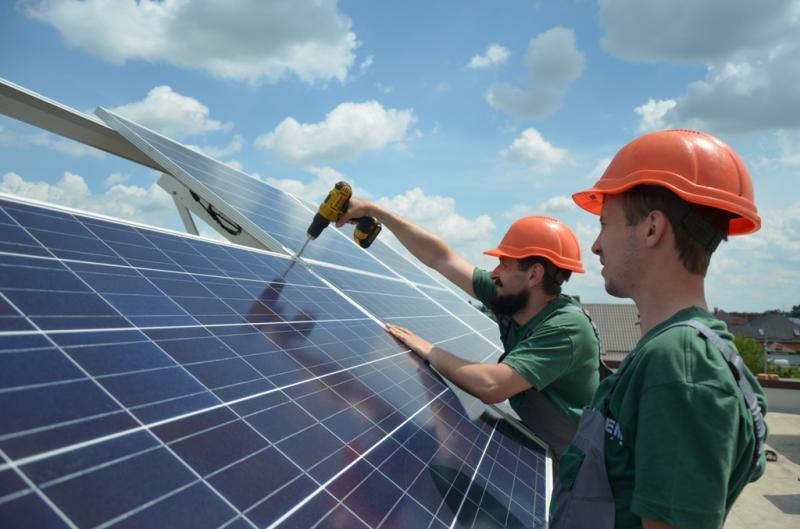 Сетевая солнечная электростанция 5 кВт. Бориспольский р-н, Большая Александровка (2-я очередь)
