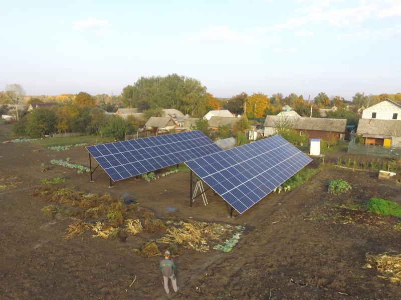 Солнечная электростанция мощностью 27 кВт под зеленый тариф в г. Сумы