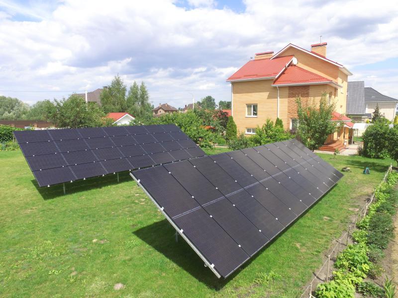 Солнечная электростанция 15 кВт с модулями IBC MonoSol FullBlack в с. Счастливое