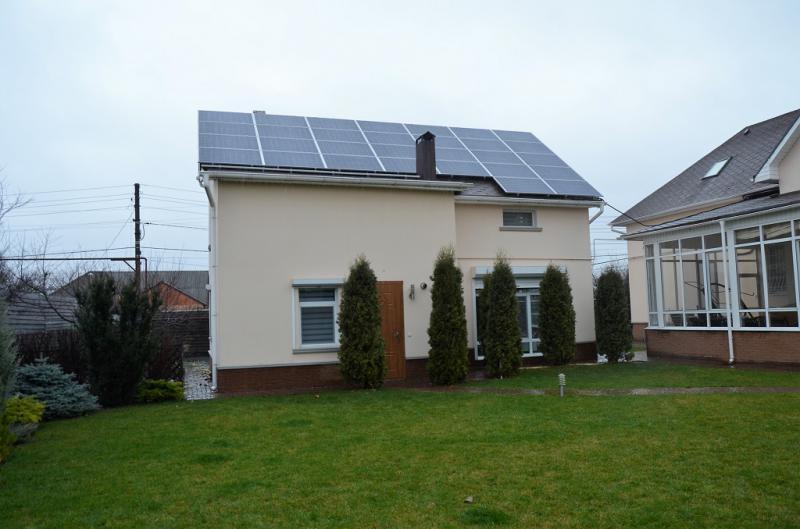 Солнечная электростанция мощностью 20 кВт в г. Сумы