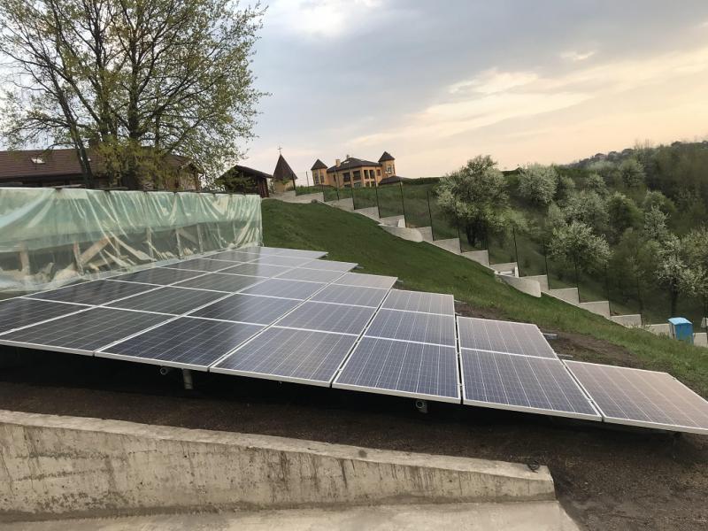 Сетевая солнечная электростанция 7 кВт в Обуховском районе, Киевская область