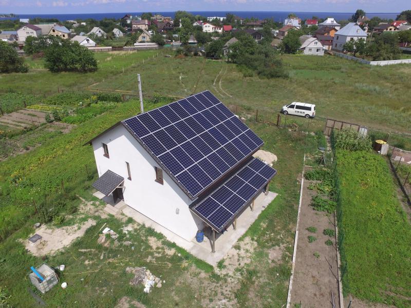 Солнечная электростанция с АС мощностью 20 кВт в с. Лютеж, Киевская область