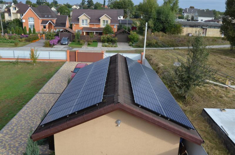 Сонячна установка 30 кВт з фотоелектричними модулями Kyocera в Гостомелі