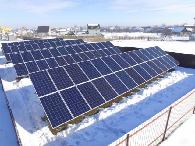 Наземна сонячна електростанція 27 кВт в смт. Гостомель, Київська область
