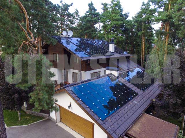 Сонячна електростанція потужністю 30 кВт під зелений тариф в м. Козин (тонкоплівкові панелі)