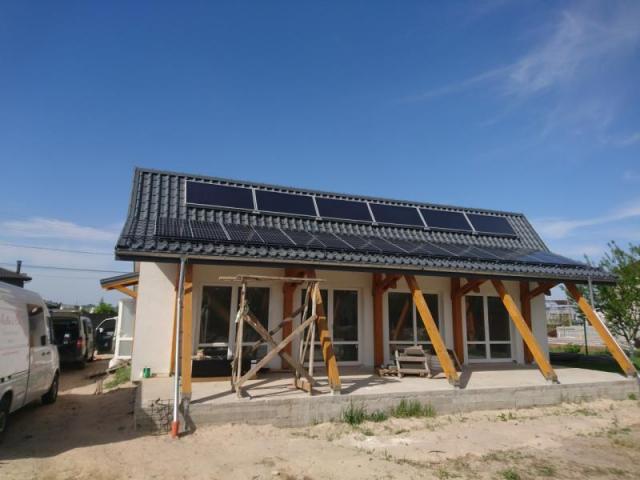 Солнечная электростанция мощностью 15 кВт в пассивном доме - Княжичи, Броварской район
