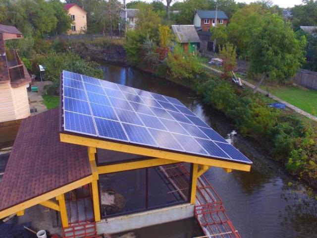 Сетевая солнечная электростанция 10 кВт Осокорки, Киев