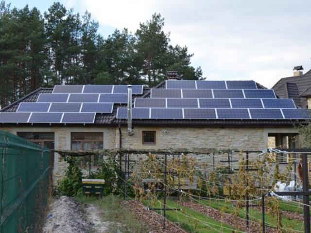 Домашня сонячна електростанція потужністю 15 кВт у Процеві