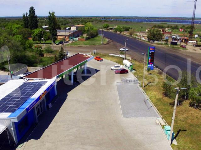 Солнечная станция на уменьшение собственного потребления АЗС в г. Токмак Запорожской области