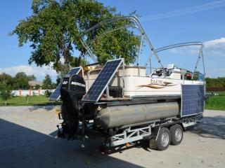 Система автономного питания катамарана с использованием гибкого модуля DAS Energy