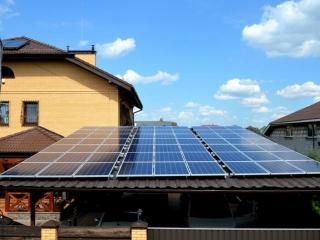Солнечная электростанция для Зеленого Тарифа мощностью 17 кВт в с. Большая Александровка