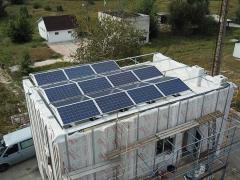 Солнечная электростанция на крыше инфоцентра в Чернобыльской зоне отчуждения