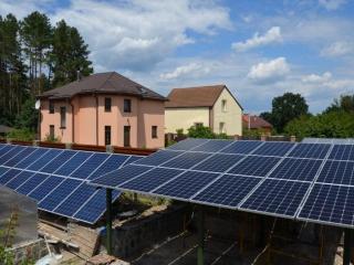 Навес из солнечных батарей 5,4 кВт в с. Нещеров, Обуховский район