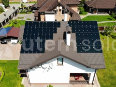 Сонячна станція 10,5 кВт з тонкоплівковими панелями Ruike RK-1-105 в с. Іванковичі Київської області