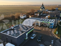 Солнечная станция 15 кВт на АЗК ОККО в с. Барвинок, Закарпатская область