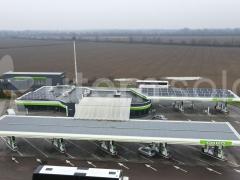 Сонячна станція 30 квт на АЗК ОККО в м. Чоп, Закарпатська область