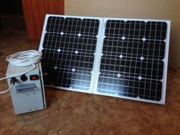 Готовая солнечная мини-электростанция мощностью 100 Вт/час.