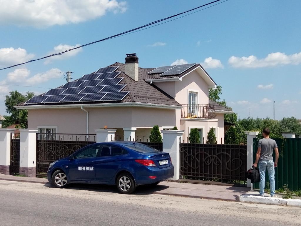 солнечные панели на доме от Утем Солар