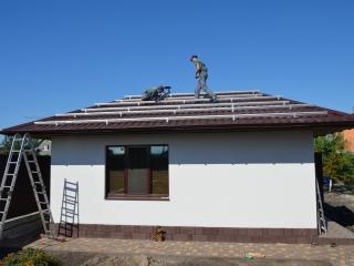 Установка специального профиля для солнечных батарей