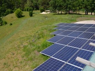 Солнечные батареи на геошурупах