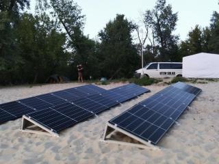 Солнечная электростанция на пляже