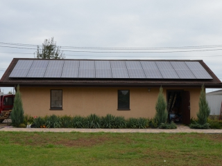 Установка солнечных батарей на крыше дома