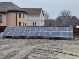Наземная конструкция для солнечных батарей
