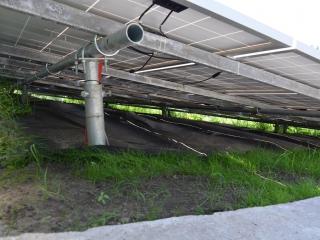 Солнечные батареи на винтовых сваях