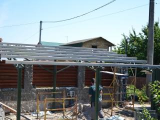 Конструкция для солнечного навеса
