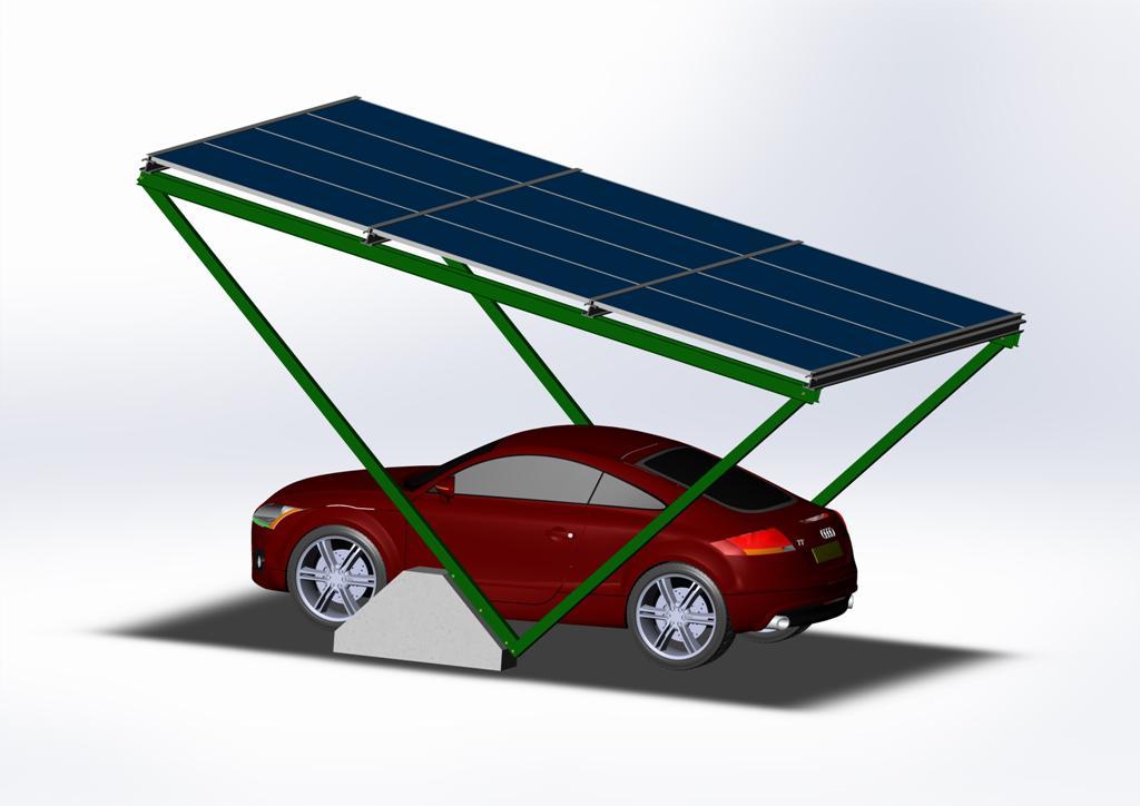 Автонавес из солнечных батарей SolarPort Single ®
