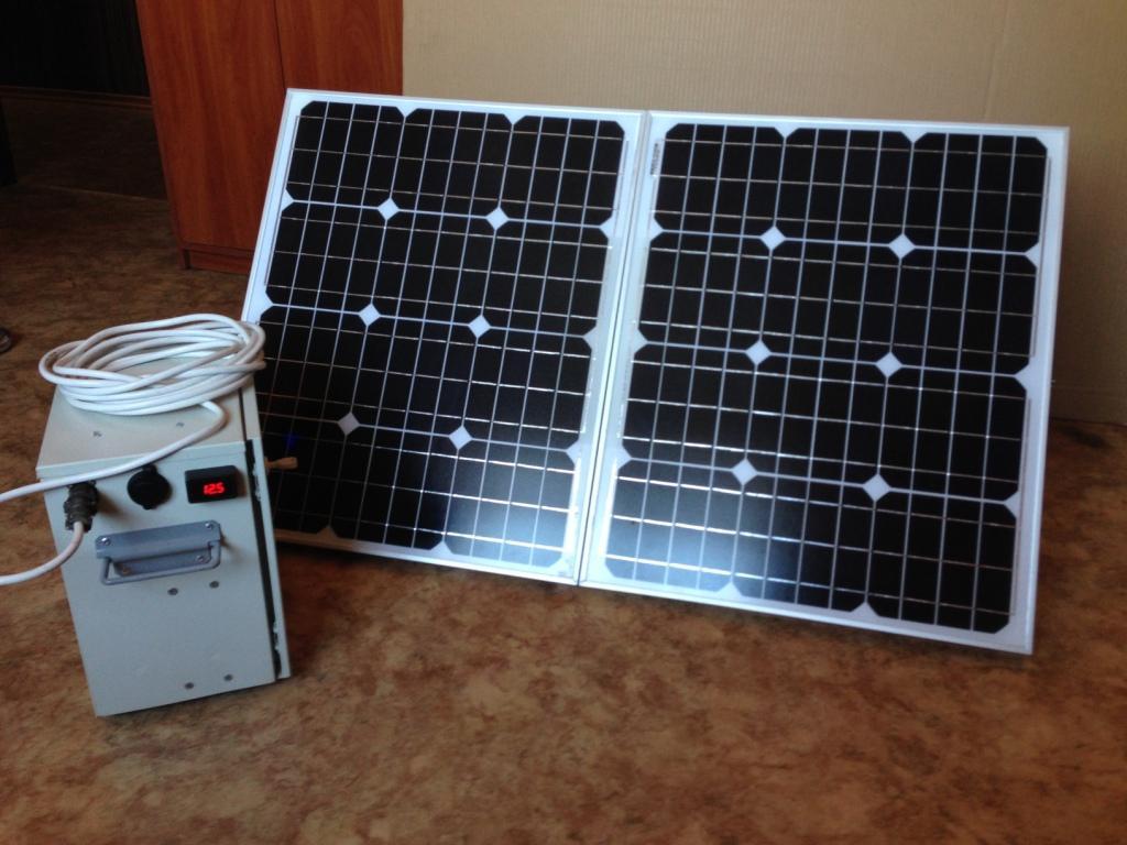Солнечная переносная электростанция мощностью 100 Вт