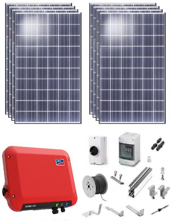 Солнечная установка для экономии электроэнергии мощностью 2,5 кВт