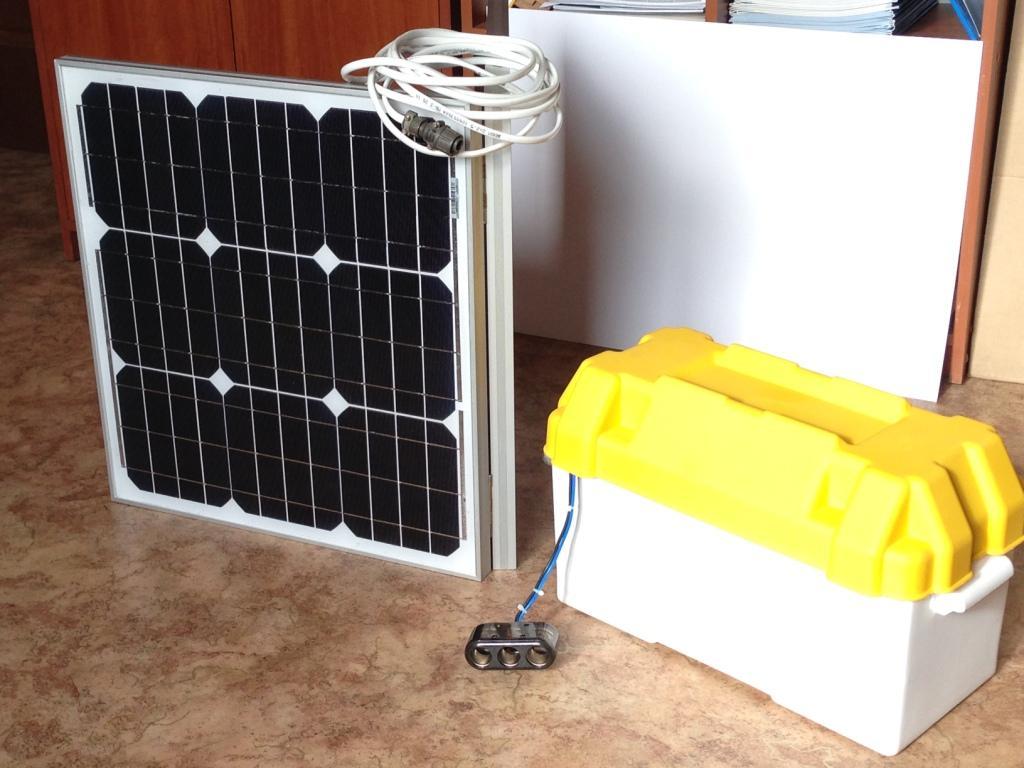 Солнечная портативная электростанция мощностью 60 Вт