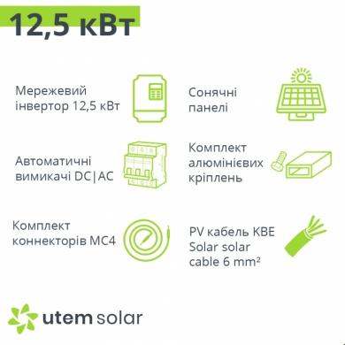 Комплект сонячних батарей для Зеленого тарифу 12 кВт БЮДЖЕТ