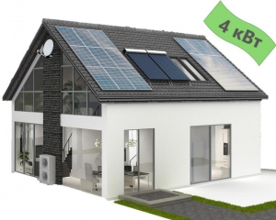 Солнечная электростанция 4 кВт для дома