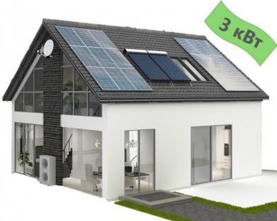 Солнечная электростанция для дома 3кВт