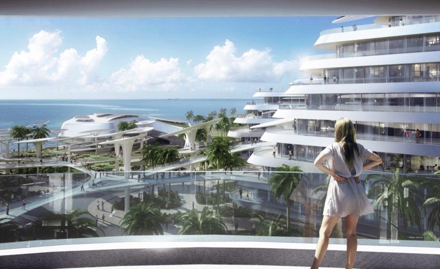 футуристический эко-город на Мальдивах