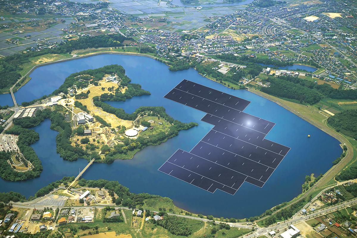 Самая большая в Японии плавающая электростанция