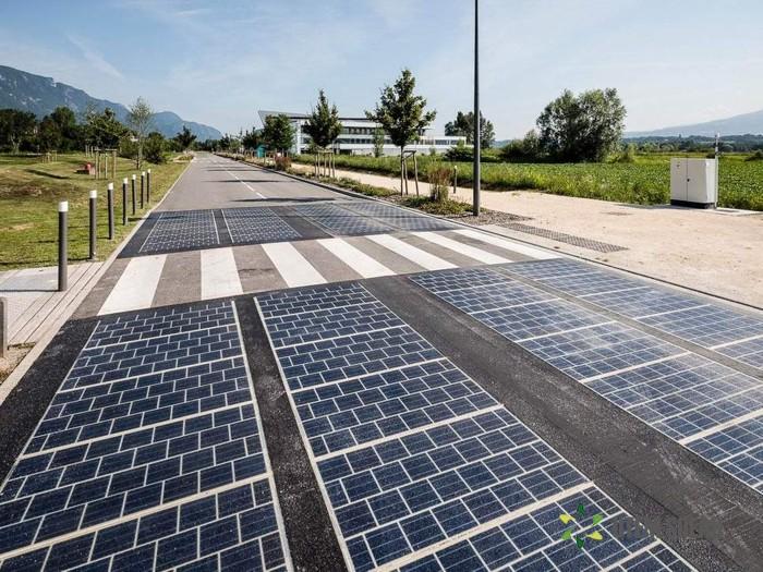 дороги из солнечных батарей