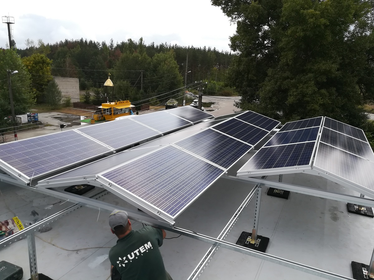 Компанія UTEM SOLAR встановила сонячну електростанцію в Чорнобильській зоні відчуження